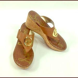 Sam Edelman Cognac Heeled Sandals Size 10